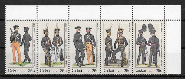 colección sellos temas varios Ciskei 1984