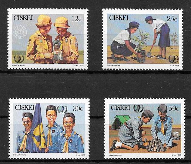 colección sellos temas varios Ciskei 1985