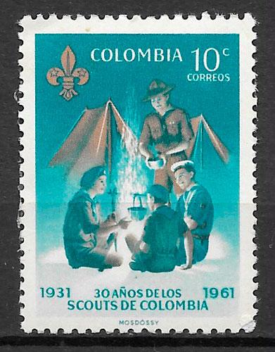 filatelia temas varios Colombia 1961