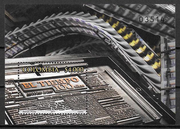 sellos temas varios Colombia 2011