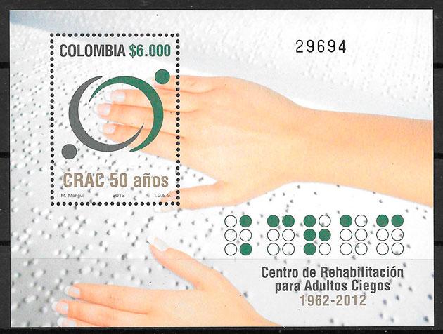 filatelia temas varios Colombia 2012