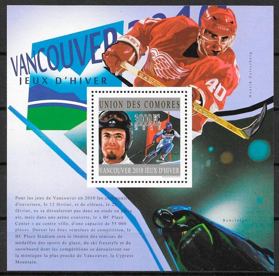 sellos deporte Comores 2010