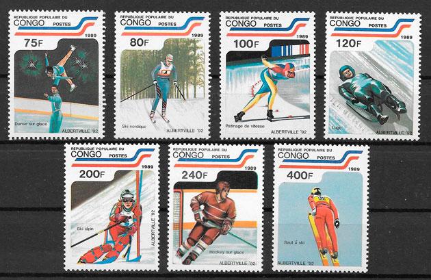 sellos deporte Congo 1989