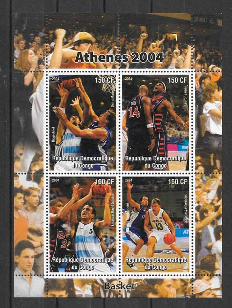sellos deporte Congo 2004