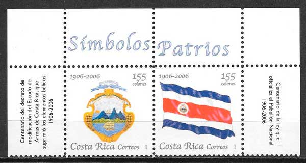 sellos varios temas Costa Rica 2006