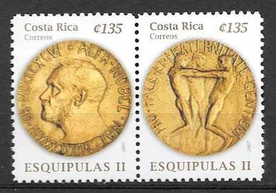 colección sellos varios temas Costa Rica 2007