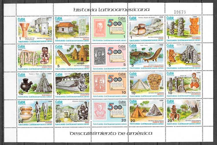 sellos temas varios Cuba 1986