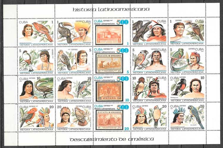 sellos temas varios Cuba 1987