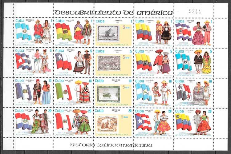 filatelia temas varios Cuba 1990