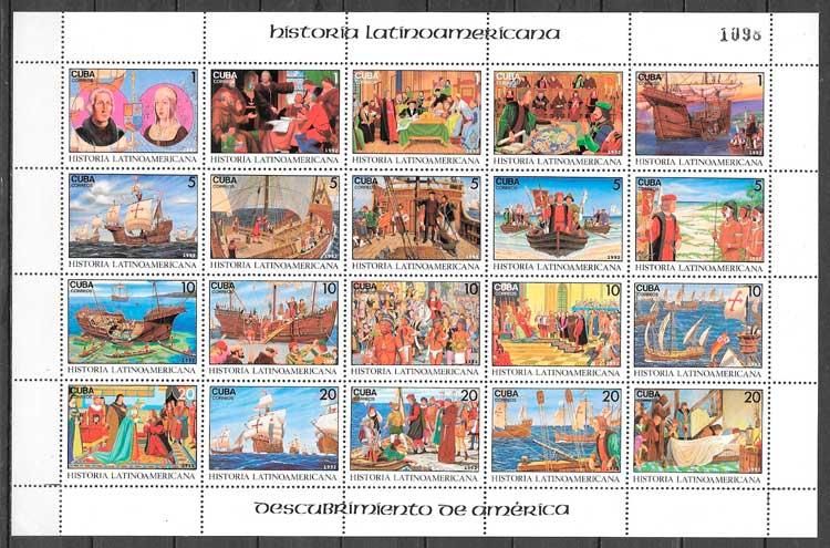 filatelia colección temas varios Cuba 1992