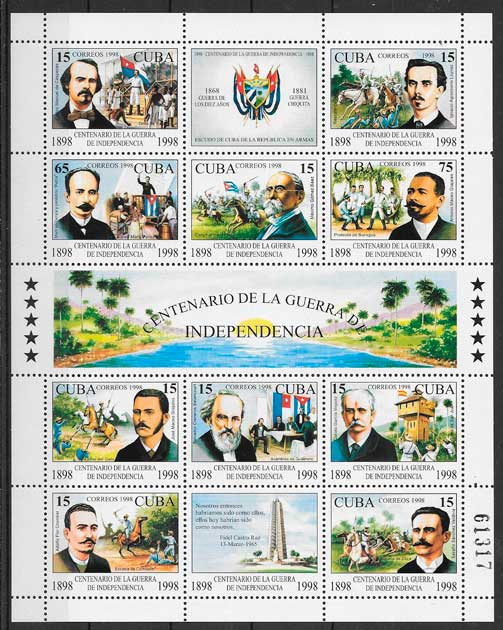 filatelia colección temas varios Cuba 1998