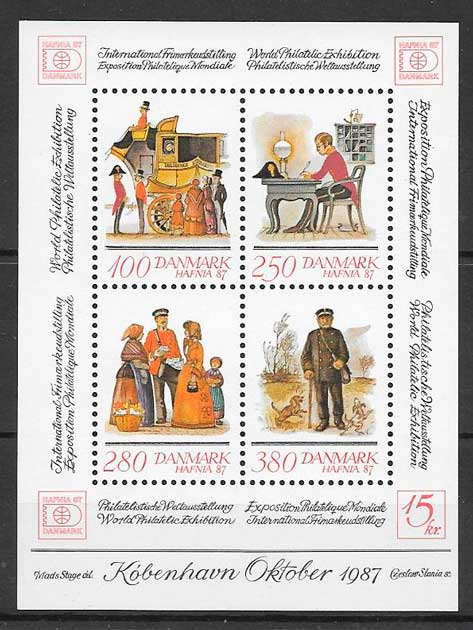 colección sellos temas varios Dinamarca 1986