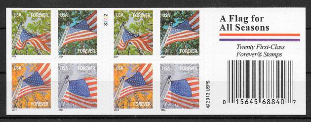 colección sellos temas varios USA 2014
