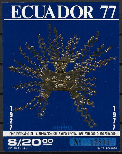 filatelia temas varios Ecuador 1977