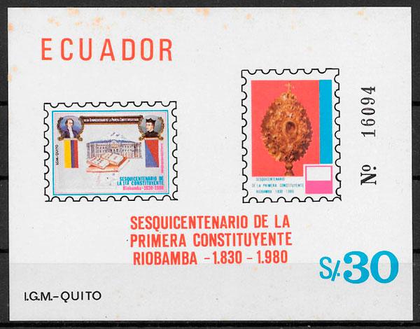 filatelia temas varios Ecuador 1980
