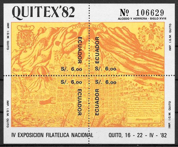 colección sellos temas varios Ecuador 1981