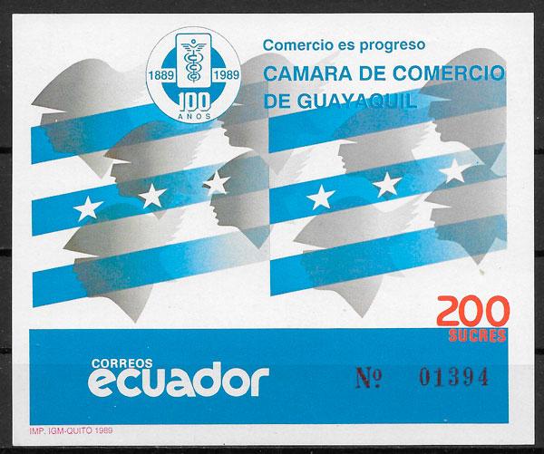 sellos temas varios Ecuador 1989