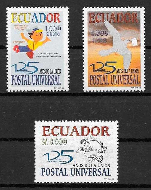colección sellos temas varios Ecuador 1999