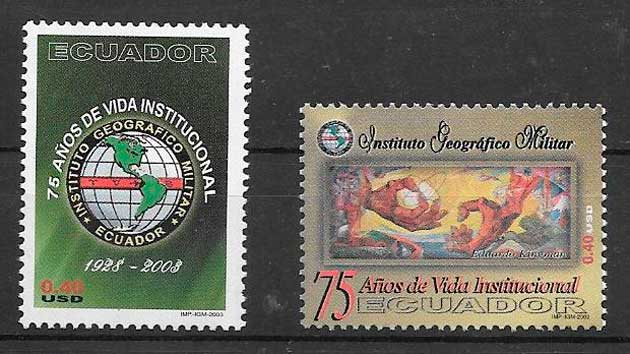 colección sellos temas varios Ecuador 2003