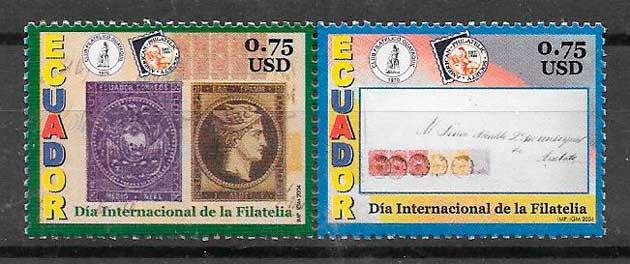 sellos temas varios Ecuador 2004