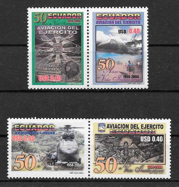 colección sellos temas varios Ecuador 2004