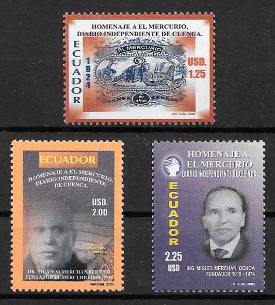 filatelia temas varios Ecuador 2005