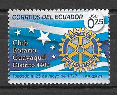 filatelia colección temas varios Ecuador 2007