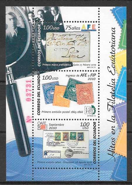 sellos temas varios Ecuador 2010