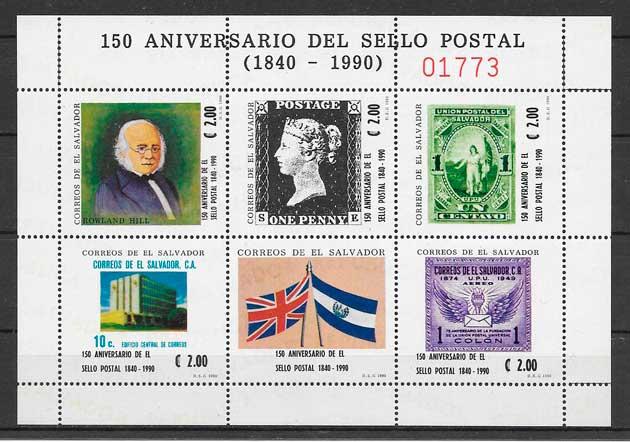 sellos temas varios El Salvador 1990