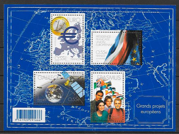 colección sellos temas varios Francia 2008