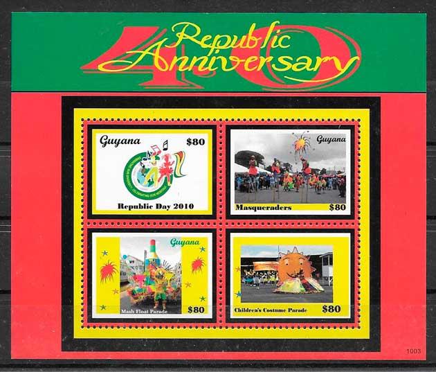 sellos temas varios Guyana 2010