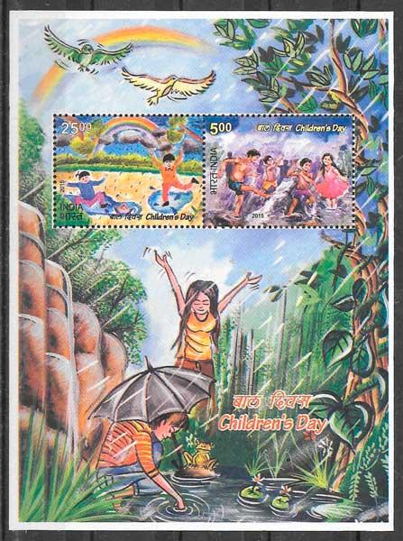 sellos temas varios India 2015