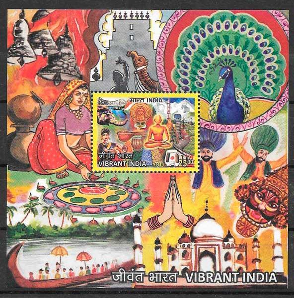sellos temas varios India 2016