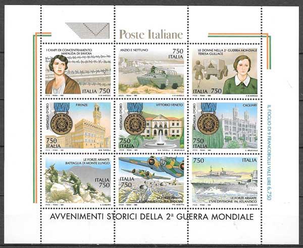Filatelia Italia II Guerra Mundial 1995