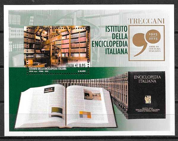 filatelia temas varios Italia 2016