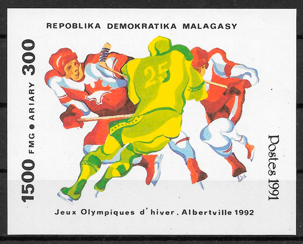 filatelia deporte Madagascar 1991