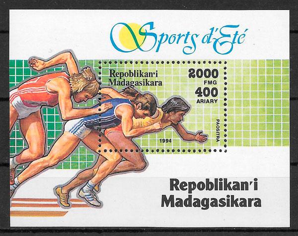 filatelia colección deporte Madagascar 1994