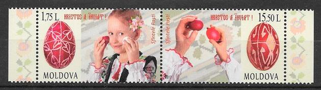 colección sellos temas varios Moldavia 2017