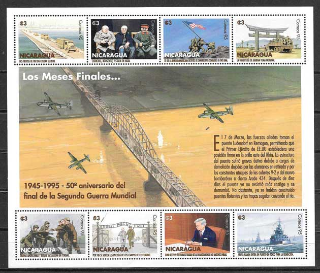 sellos temas varios Nicaragua 1995