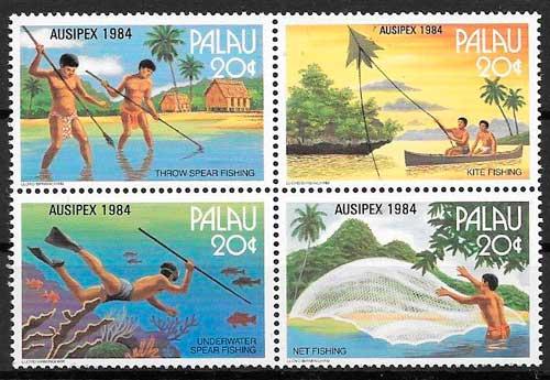filatelia temas varios Palau 1984