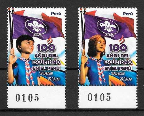 sellos temas varios Perú 2010
