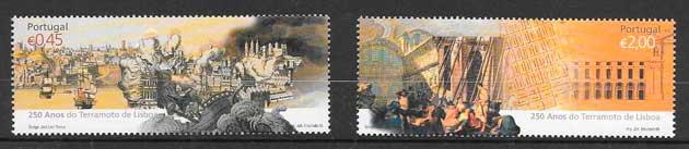 colección sellos temas varios Portugal 2005
