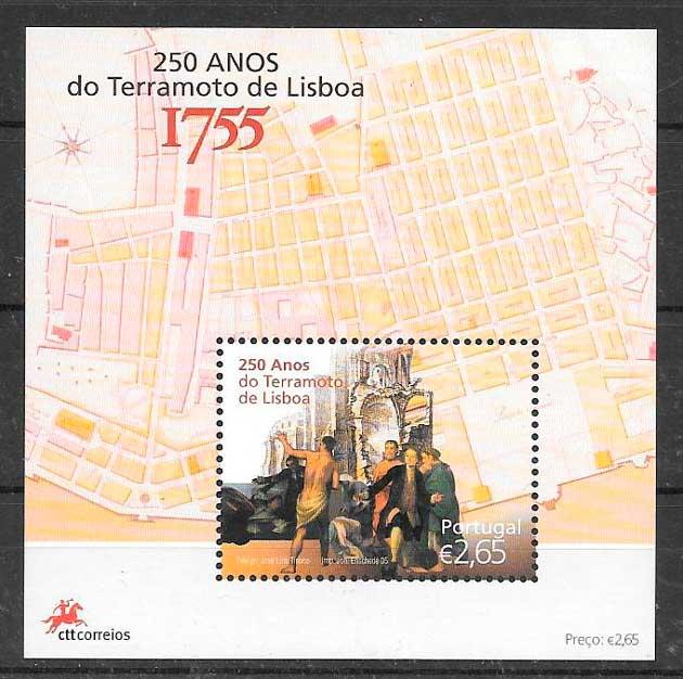 colección sellos Portugal 2005 temas varios