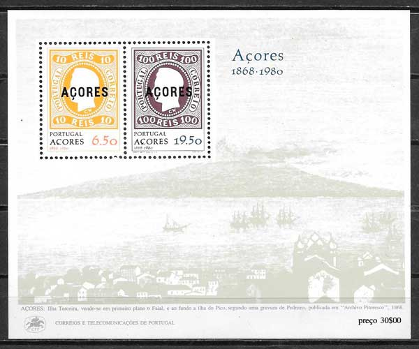 sellos temas varios Azores 1980