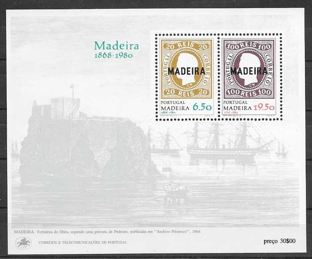 filatelia temas varios Madeira 1980