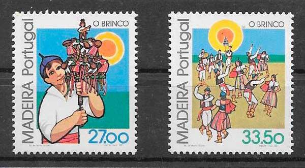 filatelia temas varios Madeira 1982