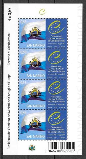 sellos temas varios San Marino 2007