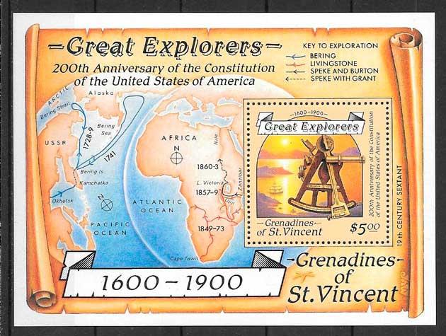sellos temas varios Sant Vicente y Grenadinas 1988