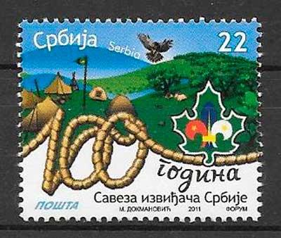 filatelia colección temas varios Serbia 2001