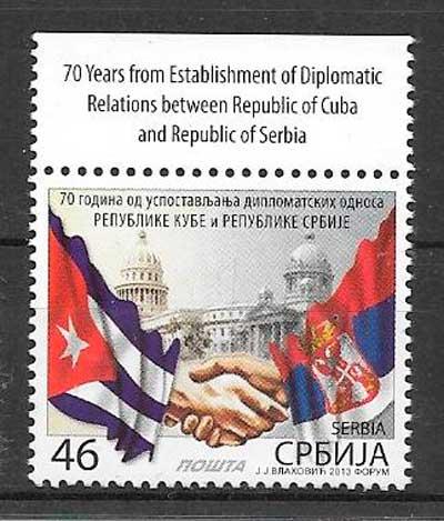 colección sellos temas varios Serbia 2013